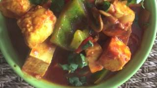 Tasty Paneer Shimla Mirch Curry Recipe - Hindi Recipe Video