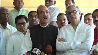 LoP Rajya Sabha Ghulam Nabi Adresses Media After meeting with chairman of Rajya sabha
