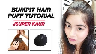 Bumpit Hair Tutorial | Puff for Thin Hair using Bumpit Puff Maker | JSuper Kaur
