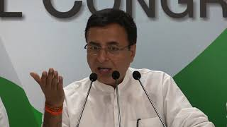 AICC Press Briefing By Randeep Singh Surjewala on BJP's Mischievous Allegations.
