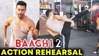 Tiger Shroff Amazing Stunts At Baaghi 2 Action Rehearsal | Martial Art