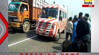 प्राइवेट बस ने बाइक को मारी टक्कर महिला की मौत #Channel India Live