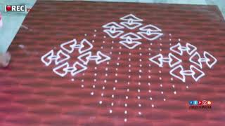 muggulu designs with 19*1 dots | simple kolam designs | rectv india
