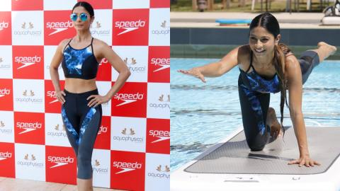 Tanishaa Mukerji At Launch Of Speedo And Aquaphysical's H20 Active Collection