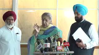 AICC Press Briefing By Ambika Soni and Pratap Singh Bajwa in Parliament on 39 Indians killed in Iraq