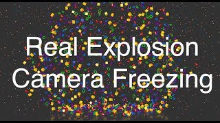 Cinema 4D Motion Graphics - Real Explosion & Camera Freezing Tutorial