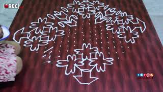 simple rangoli designs with dots21*2A2 dots kolam designschukkala muggulu designs1| rectv india