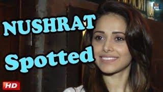 Celeb Spotting : Nushrat Bharucha   Kartik Aaryan   SKTKS   BOLLYWOOD
