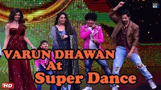 Varun Dhawan at Super Dancer Show for OCTOBER Promotions