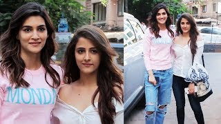 Kriti Sanon With Her Beautiful Sister Nupur At Miss Malini Show Shoot