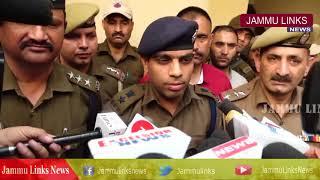 Jammu Police arrests 3 drug peddlers with heroin worth crores, cash