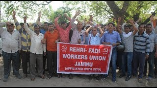 Rehri-Fadi Workers Union holds protest