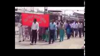 Northen Railway Mens Union Dharna at Railway Station, Jalandhar    04 Oct 2013