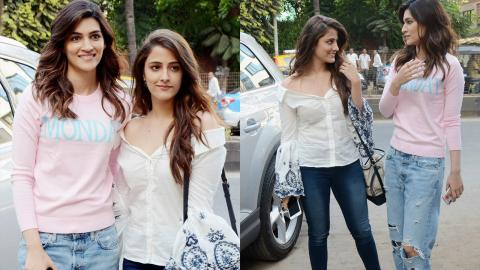 Kriti Sanon With Sister Nupur Sanon Spotted In The City For A Shoot.