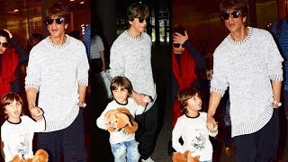 Shahrukh Khan And CUTE AbRam RETURNS From Austria Holidays, Spotted At Airport
