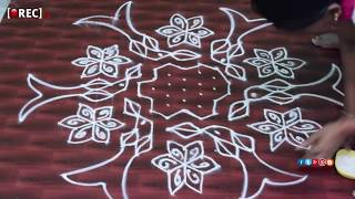 Rangoli Designs with  Dots   Beginners Kolam Designs Muggulu Designs With dots | rectv india