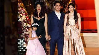 Aishwarya Rai With Daughter Aradhya At Akash Ambani And Shloka Mehta Engagement GRAND PARTY