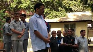 Delhi CM Arvind Kejriwal spend his morning interacting with the residents of New Delhi