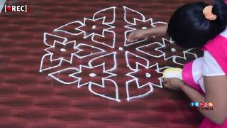 rangoli designs with  dots  beginners kolam designs muggulu designs with dots| rectvindia