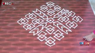 rangoli designs with  dots beginners kolam designs muggulu designs with dots