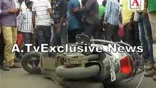 Accident at Mahbub Circle Ring Road Gulbarga 24-8-2016