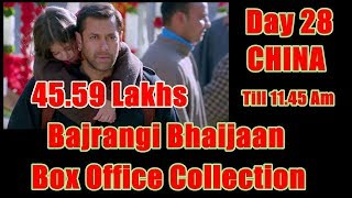Bajrangi Bhaijaan Collection Day 28 In CHINA Till 11.45 Am