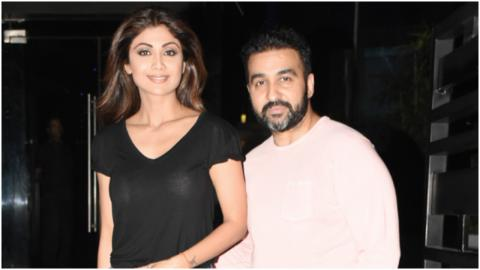 Shilpa Shetty And Raj Kundra Spotted After Dinner At Yauatcha