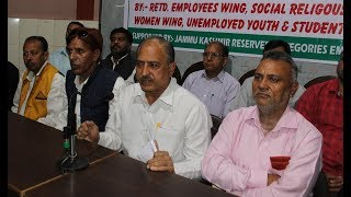 JKRCEA slam Central, State Govts for killing constitutional rights of backward classes