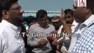 Inspection Central Bus Station Gulbarga by Al haj Ilyas Sait Bagban chairman NEKRTC