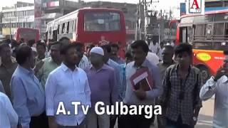 Super Market Gulbarga City Buss Stand Ki Tameer 19 Crore Ka Plan Ilyas Sait A.Tv News 17-11-2016