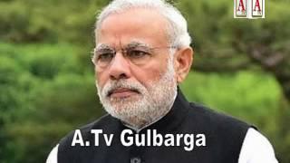 Gulbarga Me PM Modi Ke Portrait Ko Doodh Senhilaya Jayaga A.Tv  News 19-11-2016