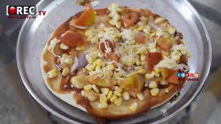kids sweet corn pizza making by 6 years girl II Vegetable Pizza II Vegi Pizza