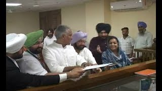 Congress Candidate Sunil Jakhad file nomination paper with CM Amrinder Singh