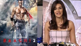 Kriti Sanon At Baaghi 2 Screening | Baaghi 2 Review | Tiger Shoff