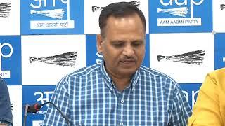 Delhi Power Minister Satyendar Jain Addresses Media on New Electricity Tariff