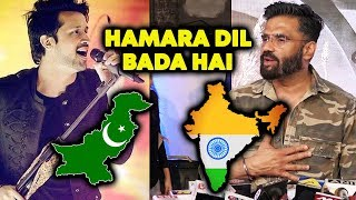 Sunil Shetty Reaction On Atif Aslam As Pakistani Singer | Baaghi O Saathi By Atif Aslam