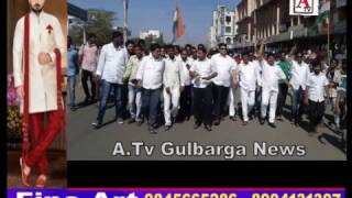 Gulbarga Me 500, 1000 K Notes Ban Karne K Against Protest A.Tv News 28-11-2016