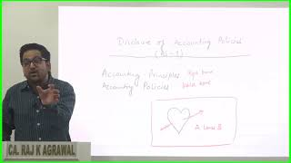 CA Intermediate Accounting | AS 1 - Disclosure of Accounting Policies by CA Raj K Agrawal