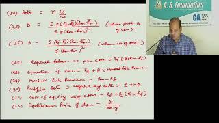 Portfolio Management (List of Formulae) | SFM by CA Vinod Kumar Agarwal