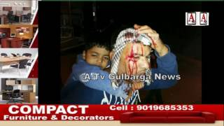 Car Accident At Ring Road Hussin Garden Gate Gulbarga A.Tv News 28-12-2016