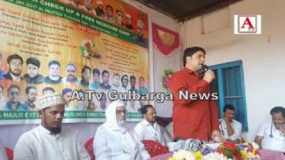 Free Health Free Medicine Camp By AIMIM Gulbarga A.Tv News 22-1-2017