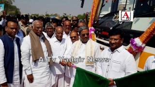 Yadgir Me 20 Nayee Busses Ka Inaugration A.Tv News 5-2-2017