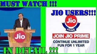 Jio Prime Free for 1 Year!!! Jio PRIME Free Till 2019 Telugu tech tuts