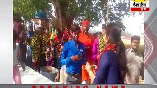 नवाबगंज के प्राचीन शिव मंदिर नगरकोट से निकली झंडी यात्रा  #Channel India Live
