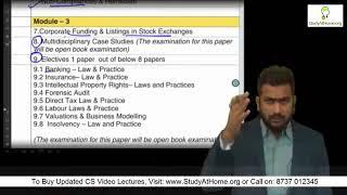 ICSI New Syllabus 2017 Launched - Fully Explained by CS Tushar Pahade