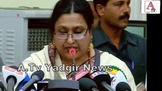 Dr Fouziya Chowdhri Johar Timmapuri Ki Yaad Me Timmapur Me Jalsa A.Tv News 24-2-2017
