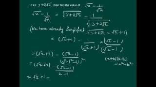 Simplifying irrational number under a square root sign (Question number 11 of R.D.Sharma)