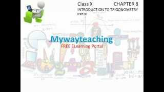 Math Class 10 Chapter 8 Part III|Introduction of Trigonometry for class 10|