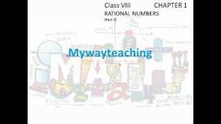 Math Class 8 Chapter 1 Part II(Rational numbers)|Rational numbers for class 8