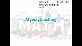 Math Class 8 Chapter 1 Part III(Rational numbers)|Rational numbers for class 8